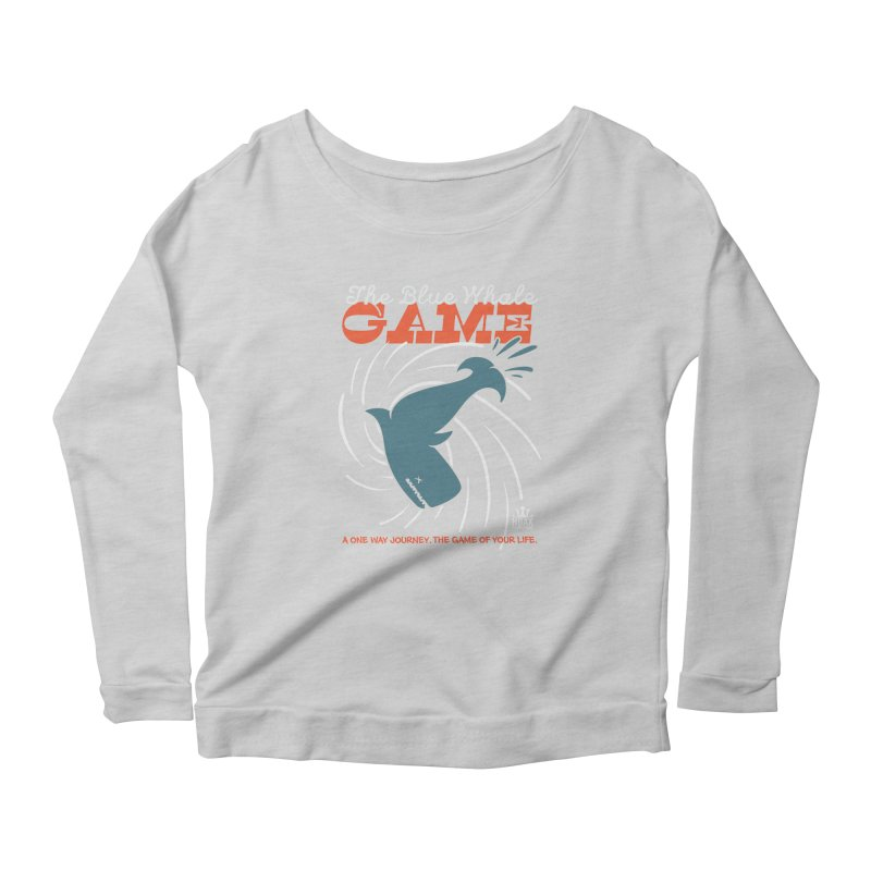 The Blue Whale Game Women's Longsleeve Scoopneck  by Opippi
