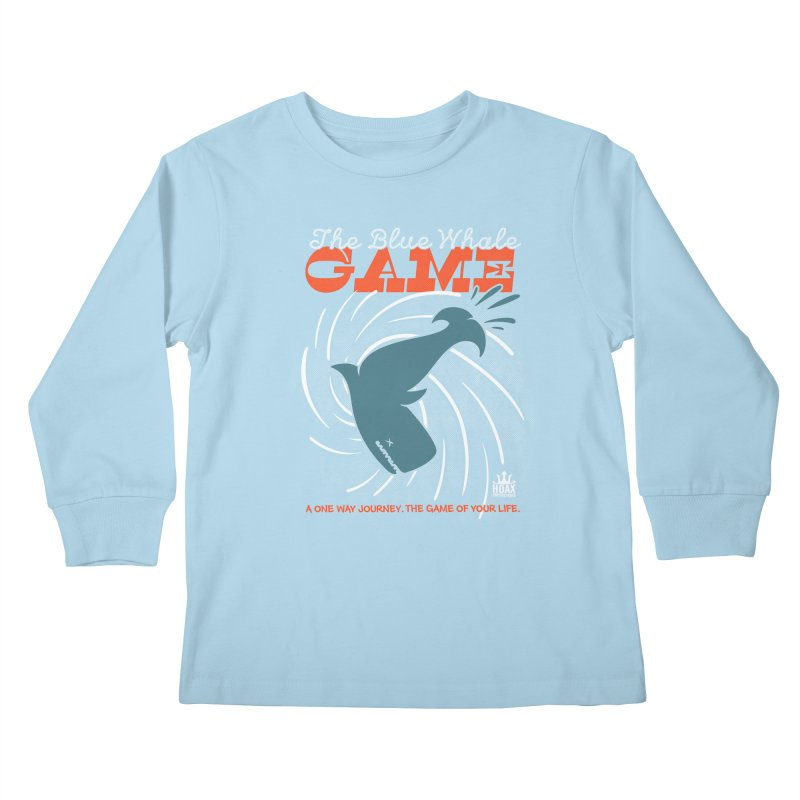 The Blue Whale Game Kids Longsleeve T-Shirt by Opippi