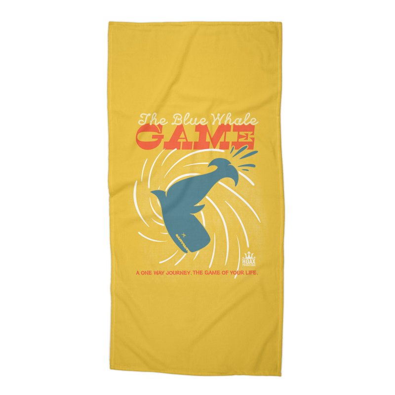 The Blue Whale Game Accessories Beach Towel by Opippi