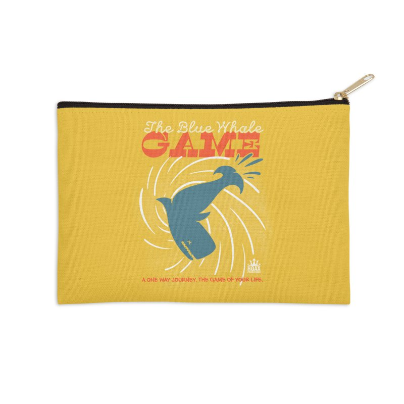 The Blue Whale Game Accessories Zip Pouch by Opippi