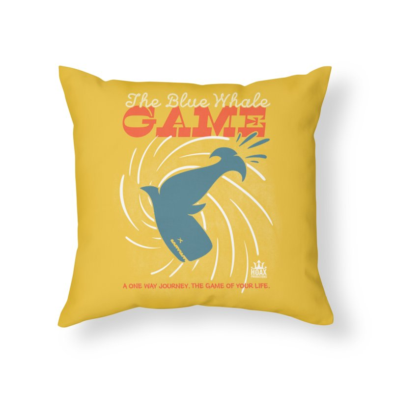 The Blue Whale Game Home Throw Pillow by Opippi