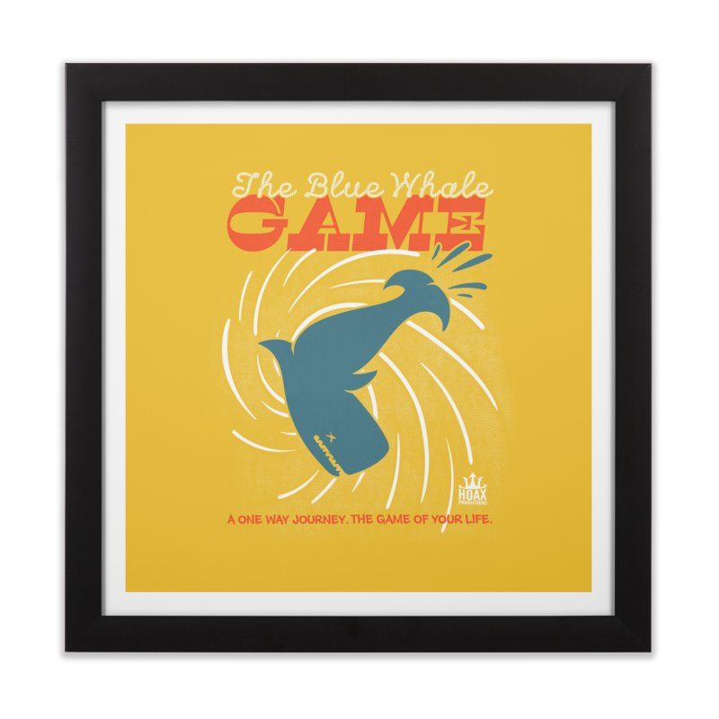The Blue Whale Game Home Framed Fine Art Print by Opippi