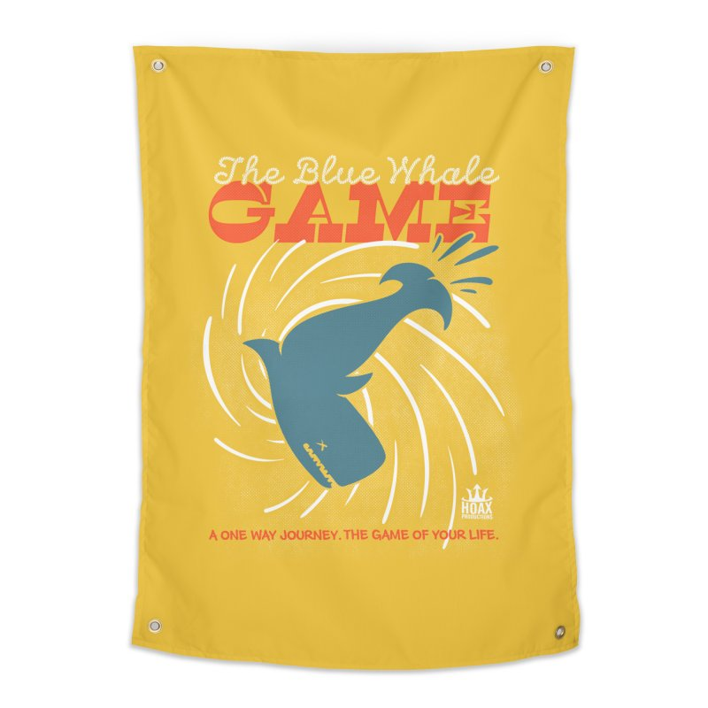 The Blue Whale Game Home Tapestry by Opippi