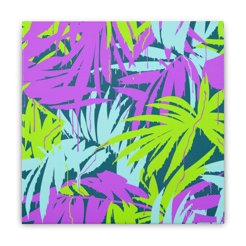 Tropicalia Home Stretched Canvas by Opippi