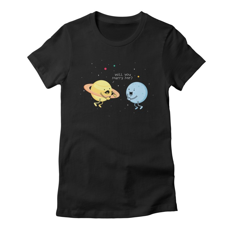 Will you marry me? Women's Fitted T-Shirt by Opippi