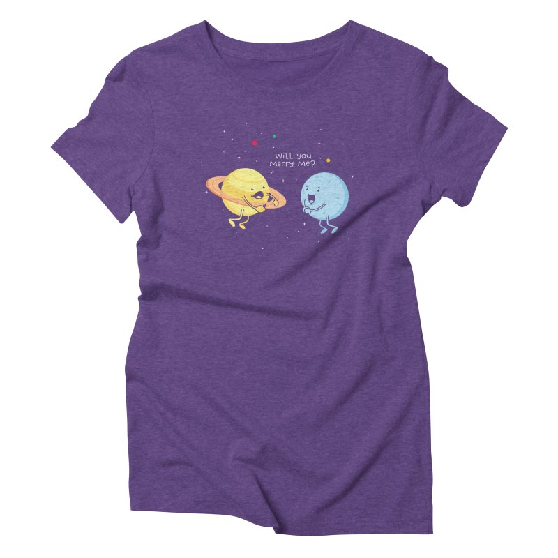 Will you marry me? Women's Triblend T-shirt by Opippi