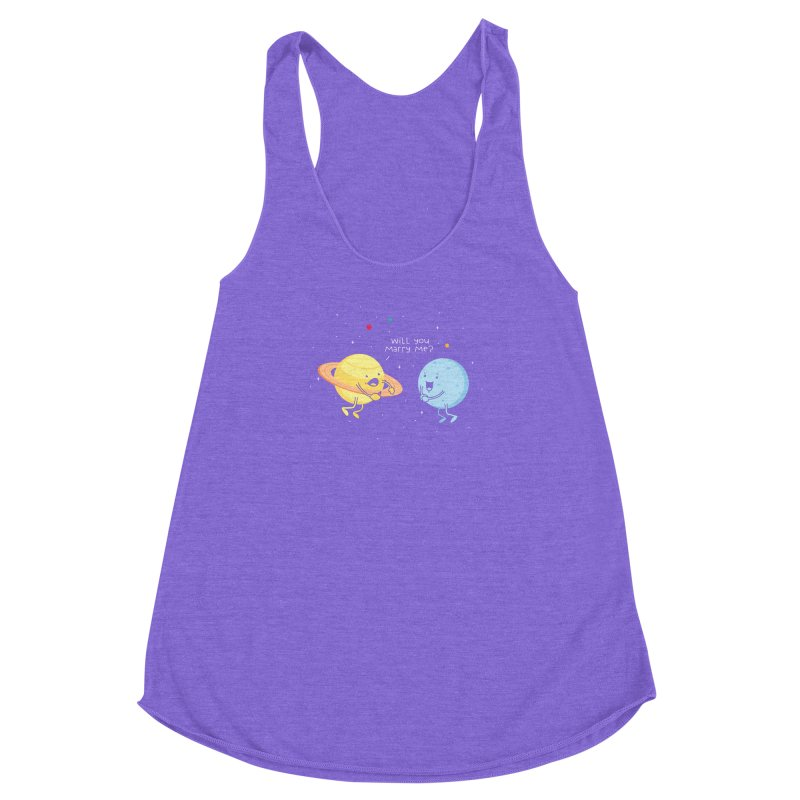Will you marry me? Women's Racerback Triblend Tank by Opippi
