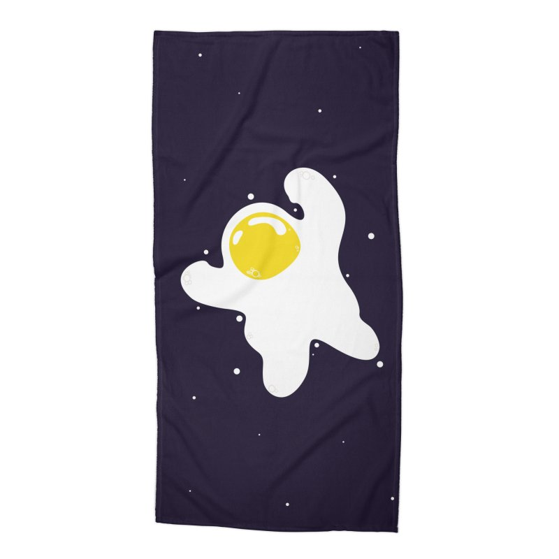 Fried Egg Odyssey Accessories Beach Towel by Opippi