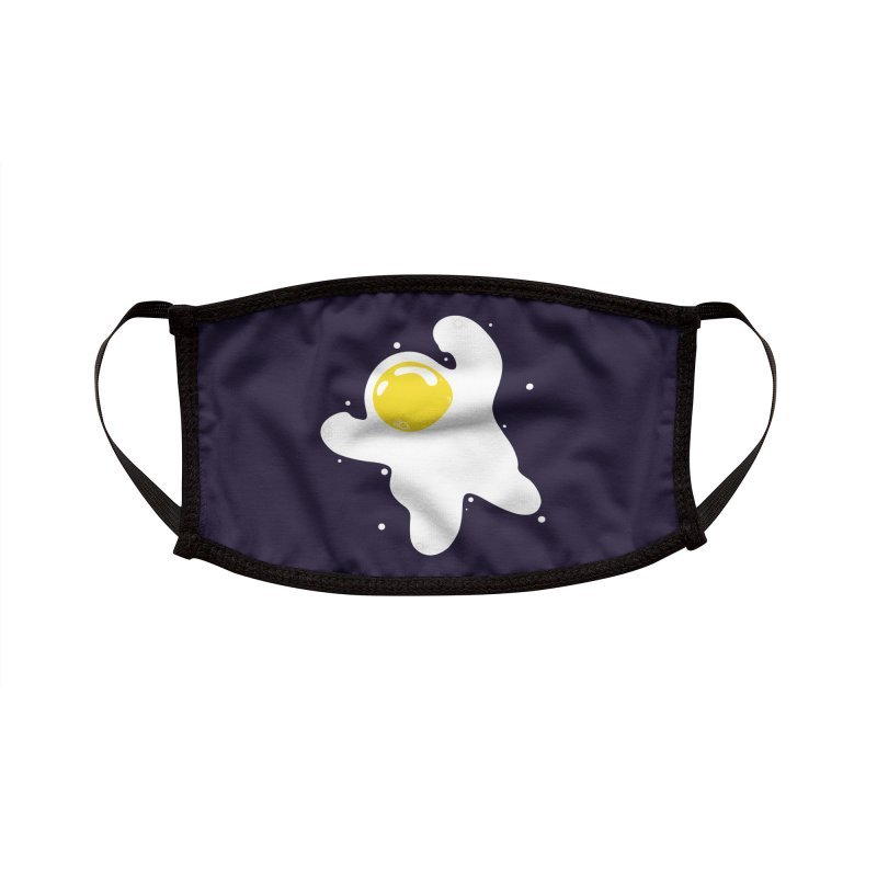Fried Egg Odyssey Accessories Face Mask by Opippi