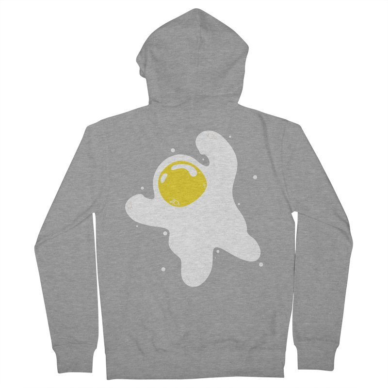Fried Egg Odyssey Women's French Terry Zip-Up Hoody by Opippi