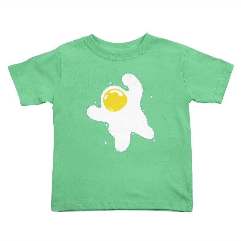 Fried Egg Odyssey Kids Toddler T-Shirt by Opippi