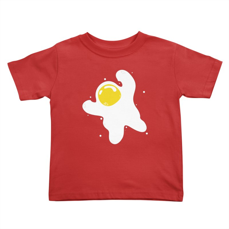 Fried Egg Odyssey Kids Toddler T-Shirt by Opippi