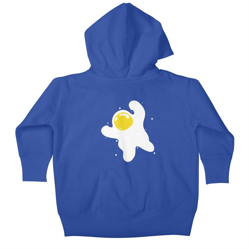 Fried Egg Odyssey Kids Baby Zip-Up Hoody by Opippi