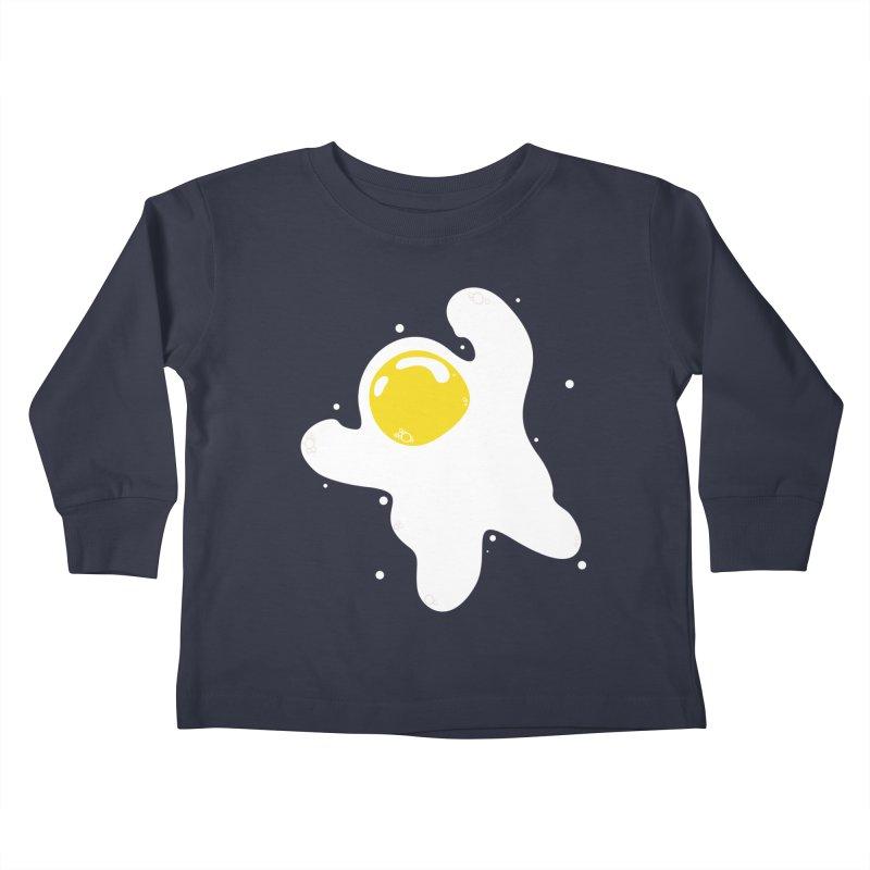 Fried Egg Odyssey Kids Toddler Longsleeve T-Shirt by Opippi