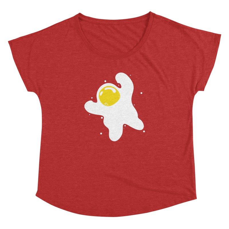 Fried Egg Odyssey Women's Dolman Scoop Neck by Opippi