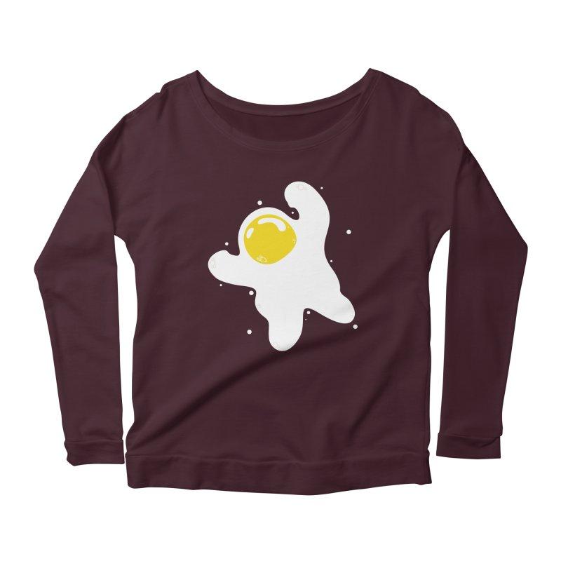 Fried Egg Odyssey Women's Scoop Neck Longsleeve T-Shirt by Opippi