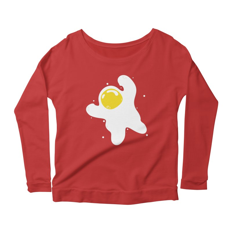 Fried Egg Odyssey Women's Scoop Neck Longsleeve T-Shirt by Opippi
