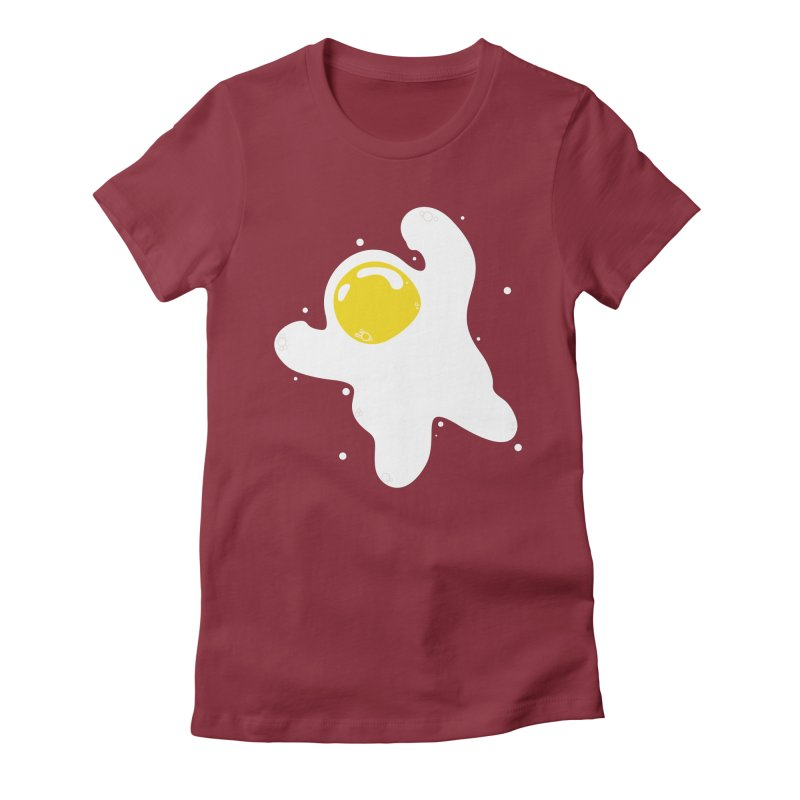Fried Egg Odyssey Women's Fitted T-Shirt by Opippi