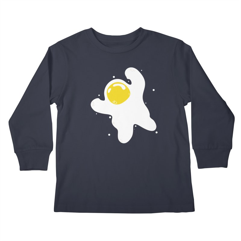 Fried Egg Odyssey Kids Longsleeve T-Shirt by Opippi