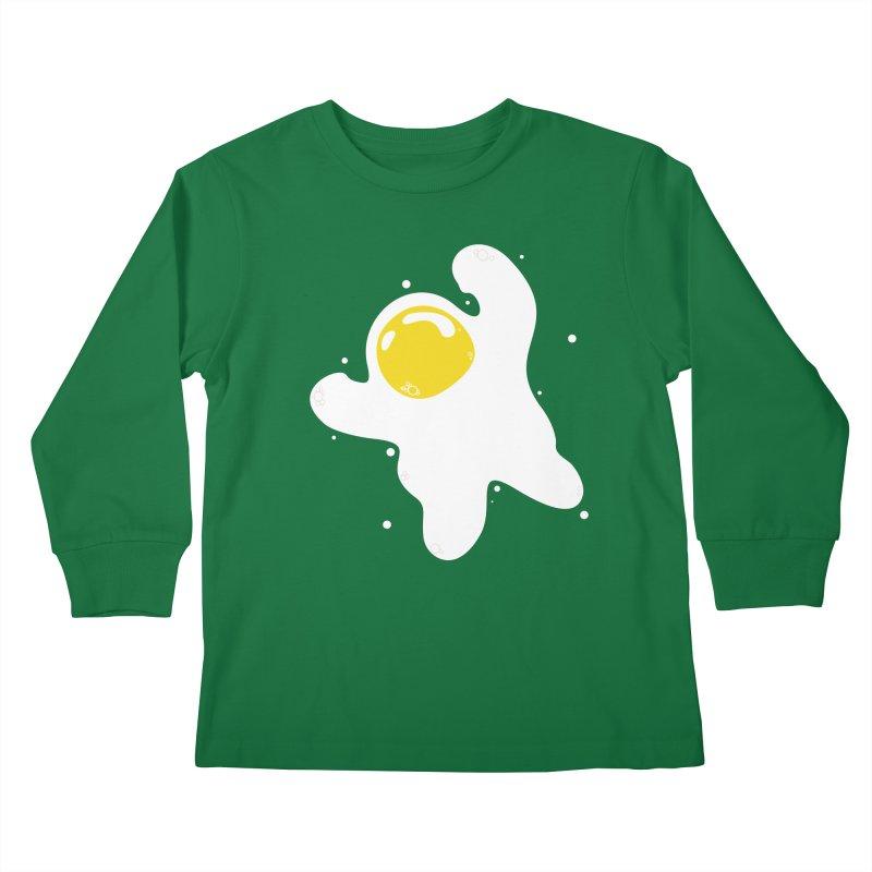 Fried Egg Odyssey Kids Longsleeve T-Shirt by Opippi