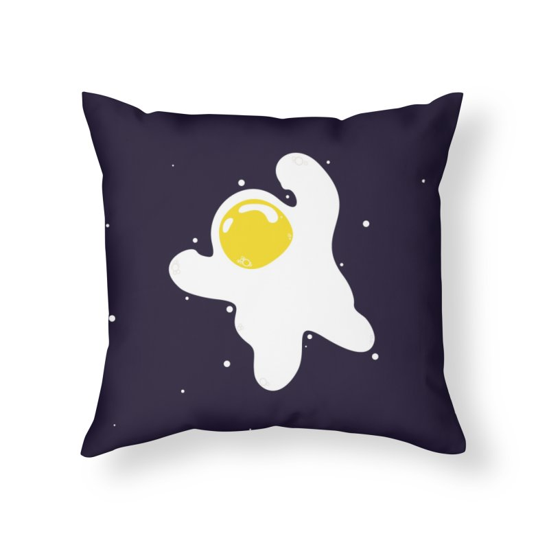 Fried Egg Odyssey Home Throw Pillow by Opippi