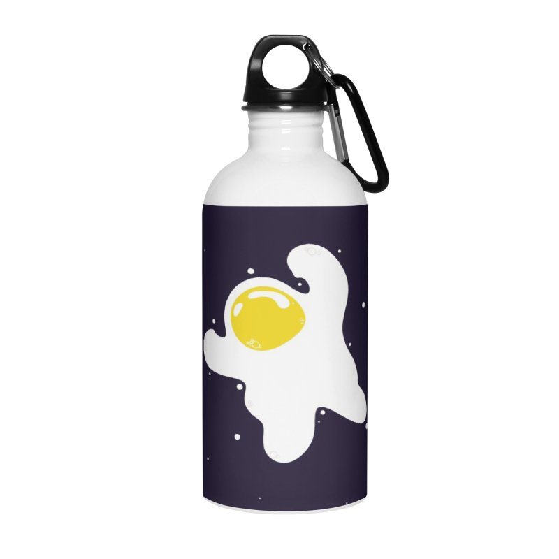 Fried Egg Odyssey Accessories Water Bottle by Opippi