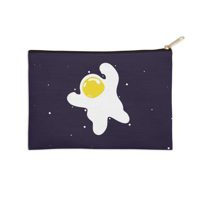 Fried Egg Odyssey Accessories Zip Pouch by Opippi