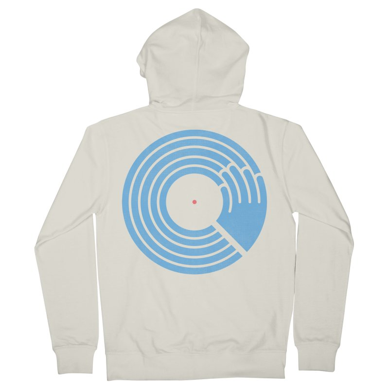 Bring the Noise_white background Men's French Terry Zip-Up Hoody by Opippi