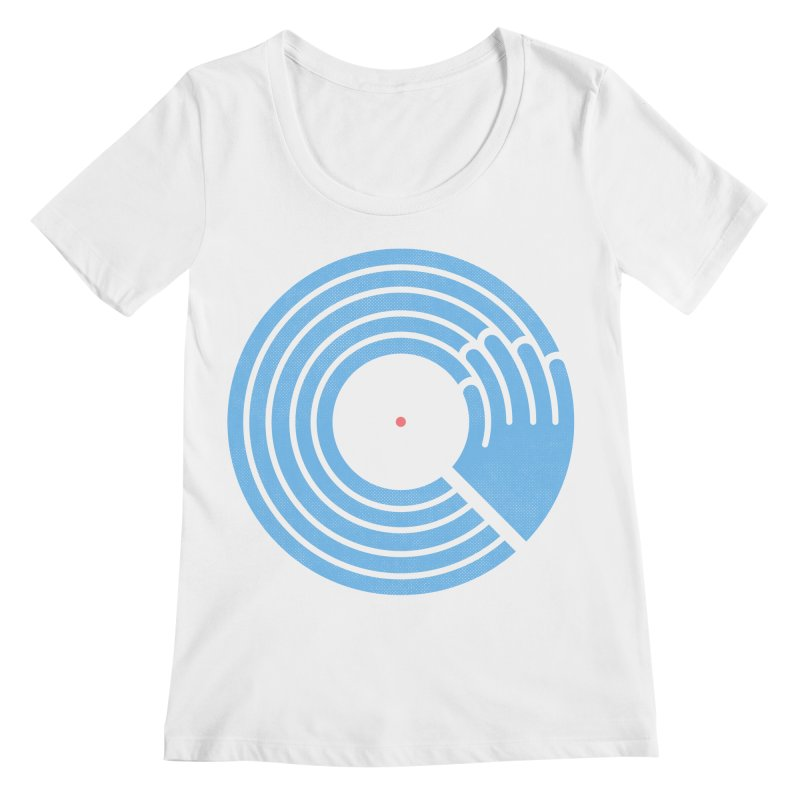 Bring the Noise_white background Women's Regular Scoop Neck by Opippi