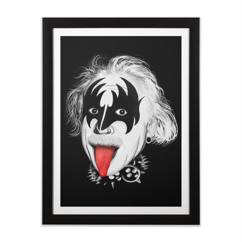 E = Rock & Roll2 Home Framed Fine Art Print by Opippi