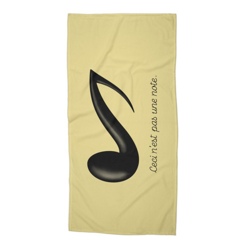 Ceci n'est pas une note Accessories Beach Towel by Opippi