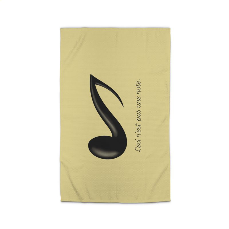 Ceci n'est pas une note Home Rug by Opippi