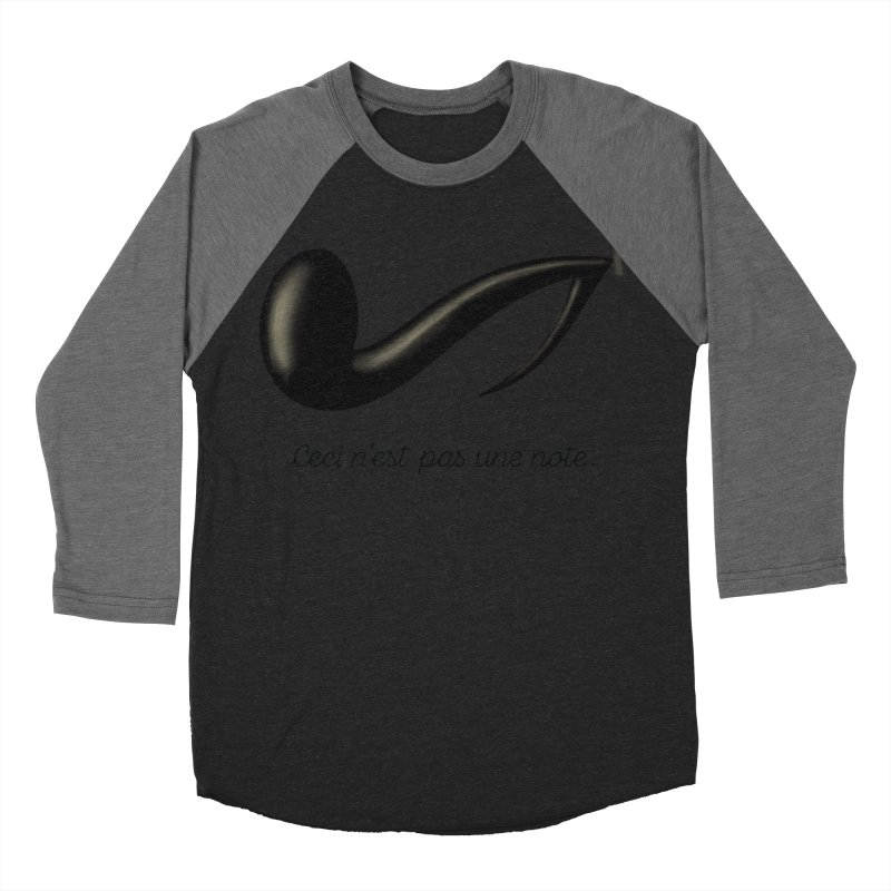 Ceci n'est pas une note Women's Baseball Triblend Longsleeve T-Shirt by Opippi
