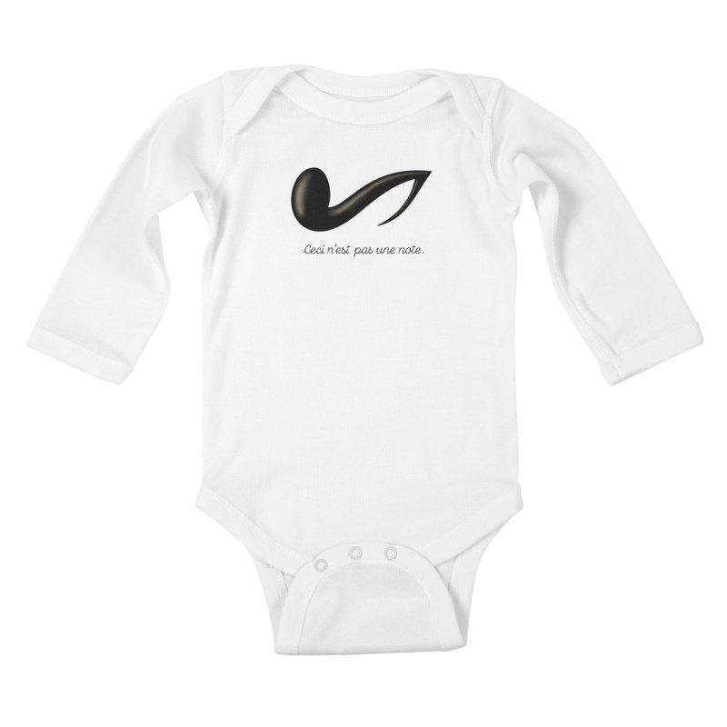 Ceci n'est pas une note Kids Baby Longsleeve Bodysuit by Opippi