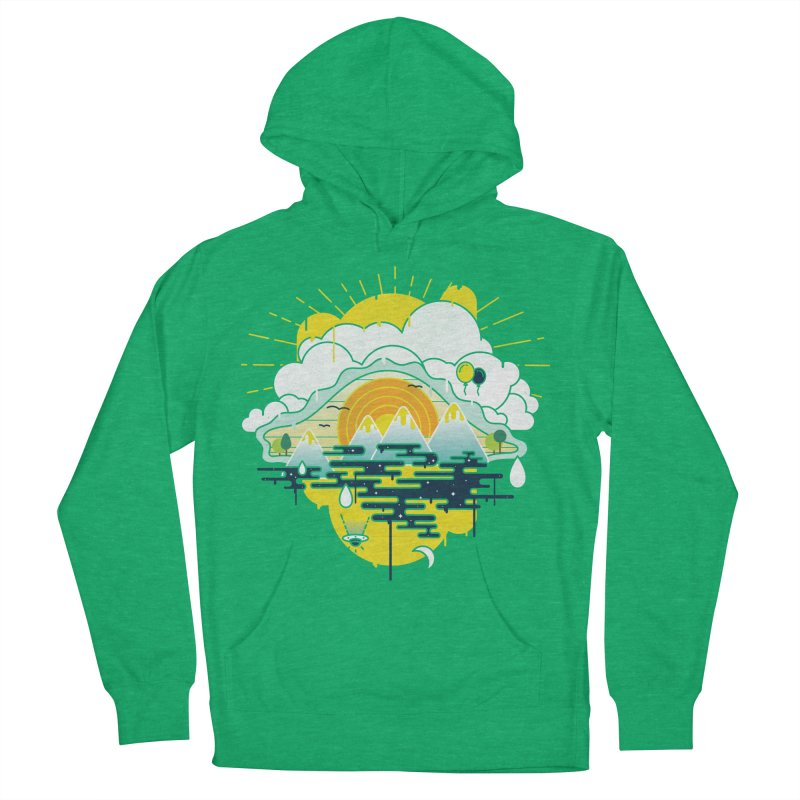 Mother nature is watching you Men's French Terry Pullover Hoody by Opippi
