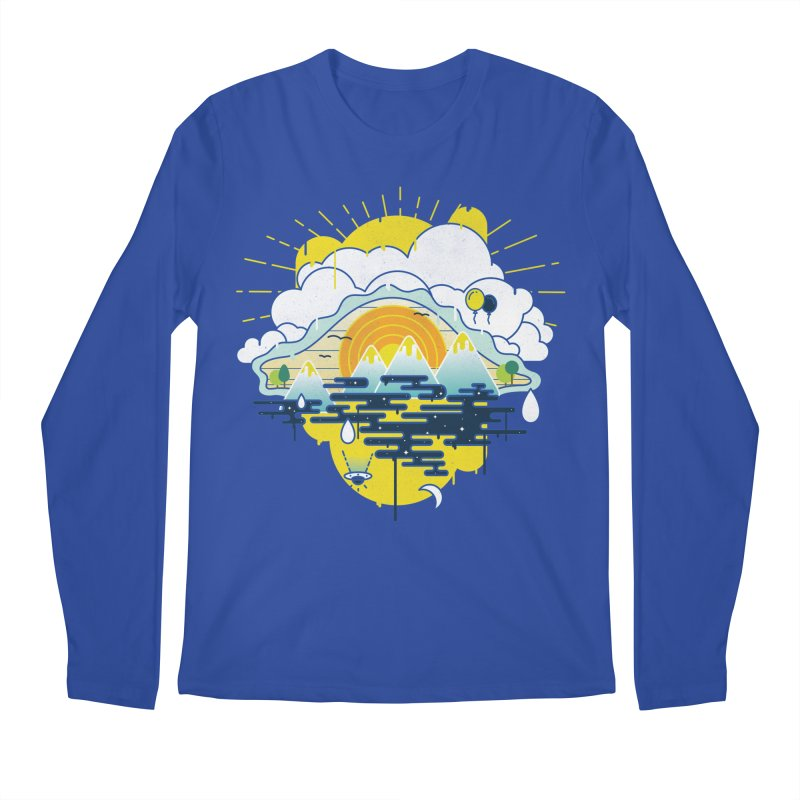 Mother nature is watching you Men's Regular Longsleeve T-Shirt by Opippi