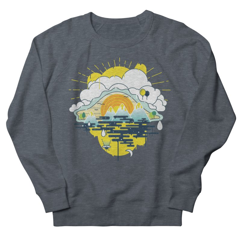 Mother nature is watching you Men's French Terry Sweatshirt by Opippi