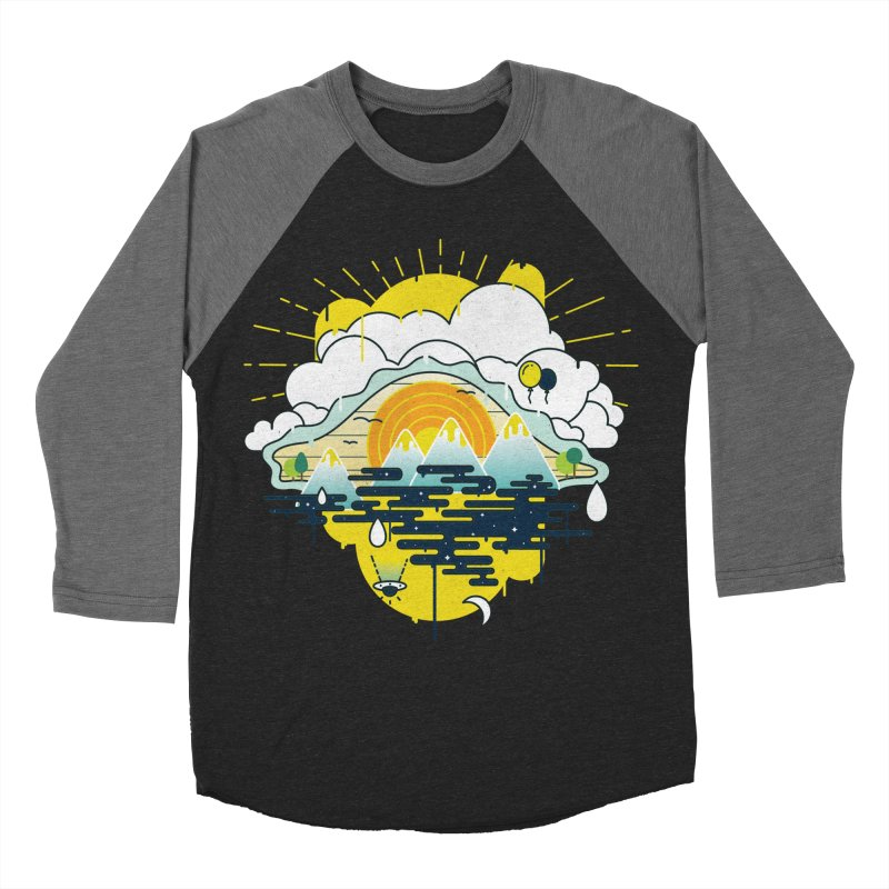 Mother nature is watching you Men's Baseball Triblend Longsleeve T-Shirt by Opippi