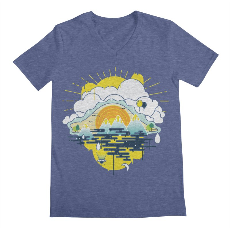 Mother nature is watching you Men's Regular V-Neck by Opippi