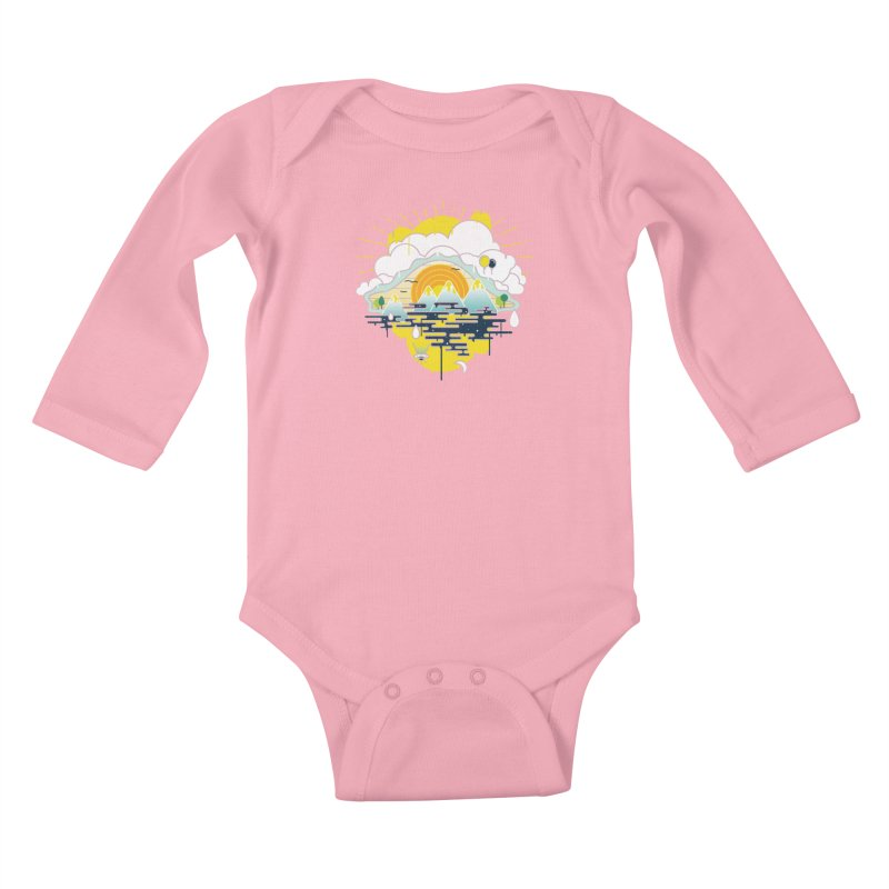 Mother nature is watching you Kids Baby Longsleeve Bodysuit by Opippi