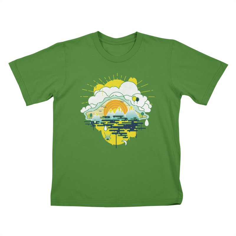 Mother nature is watching you Kids T-shirt by Opippi
