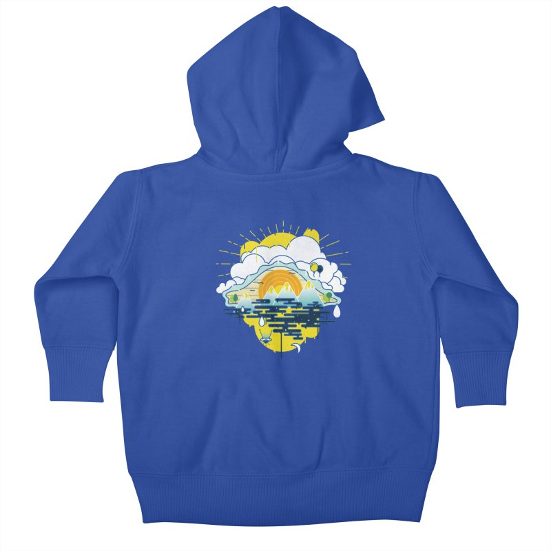 Mother nature is watching you Kids Baby Zip-Up Hoody by Opippi