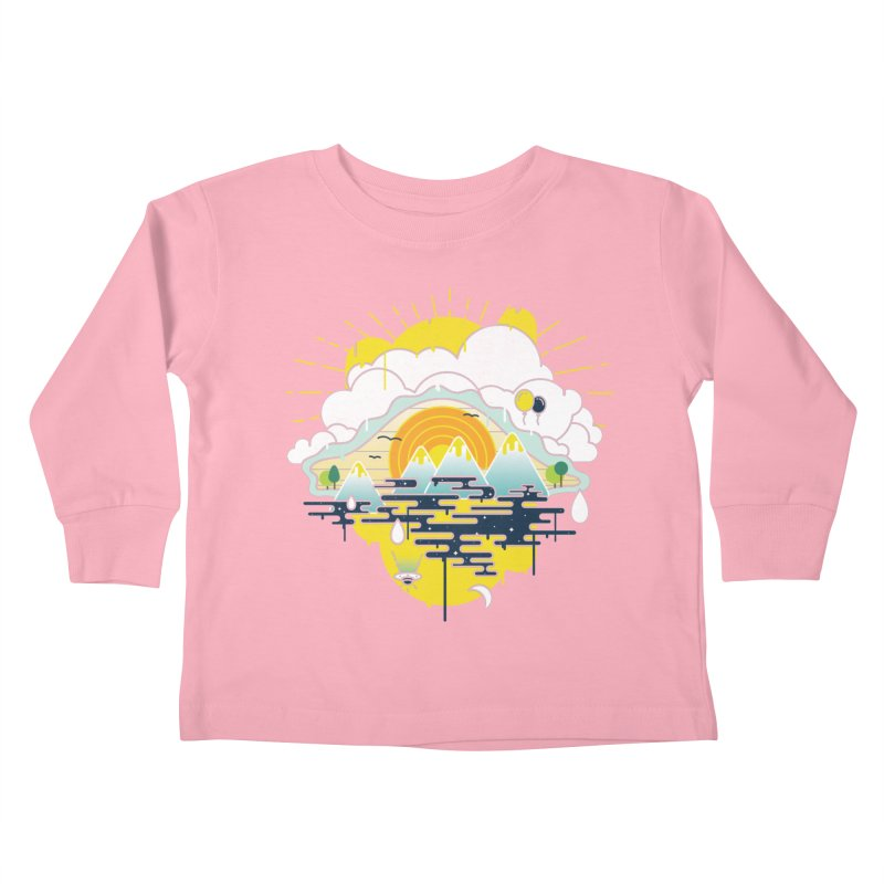 Mother nature is watching you Kids Toddler Longsleeve T-Shirt by Opippi