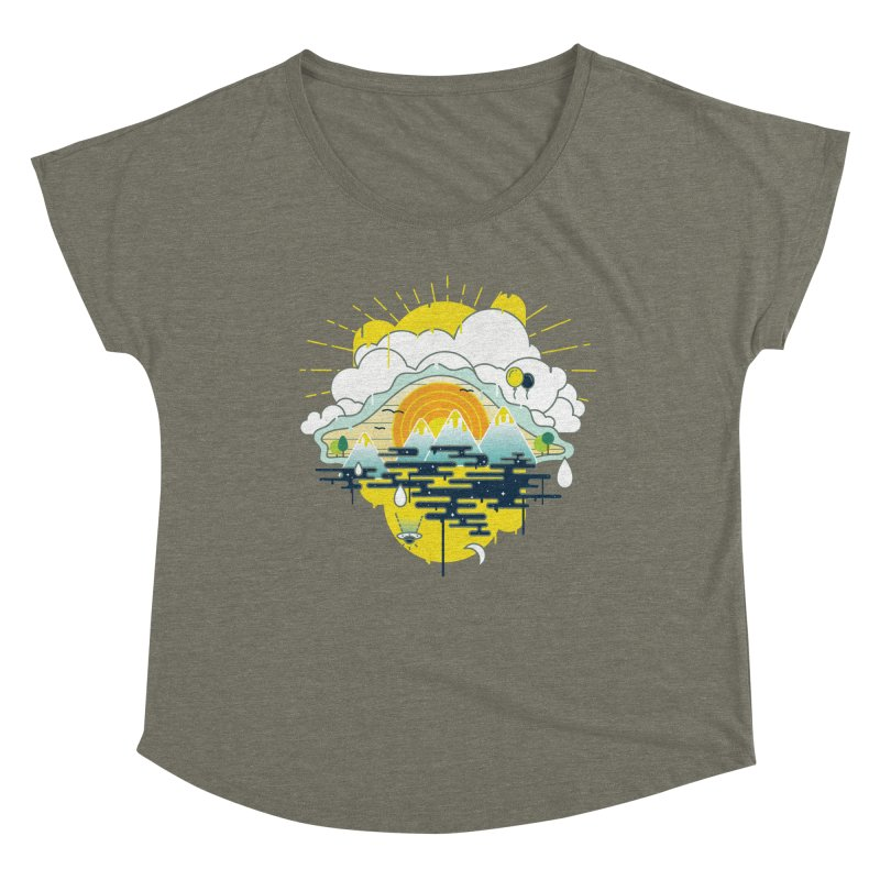 Mother nature is watching you Women's Scoop Neck by Opippi