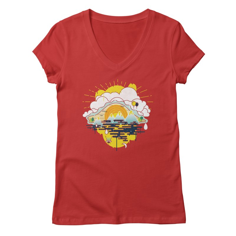 Mother nature is watching you Women's Regular V-Neck by Opippi
