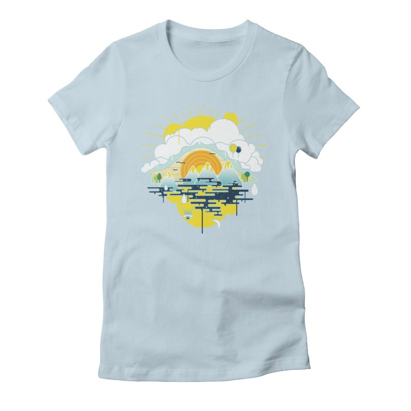 Mother nature is watching you Women's Fitted T-Shirt by Opippi