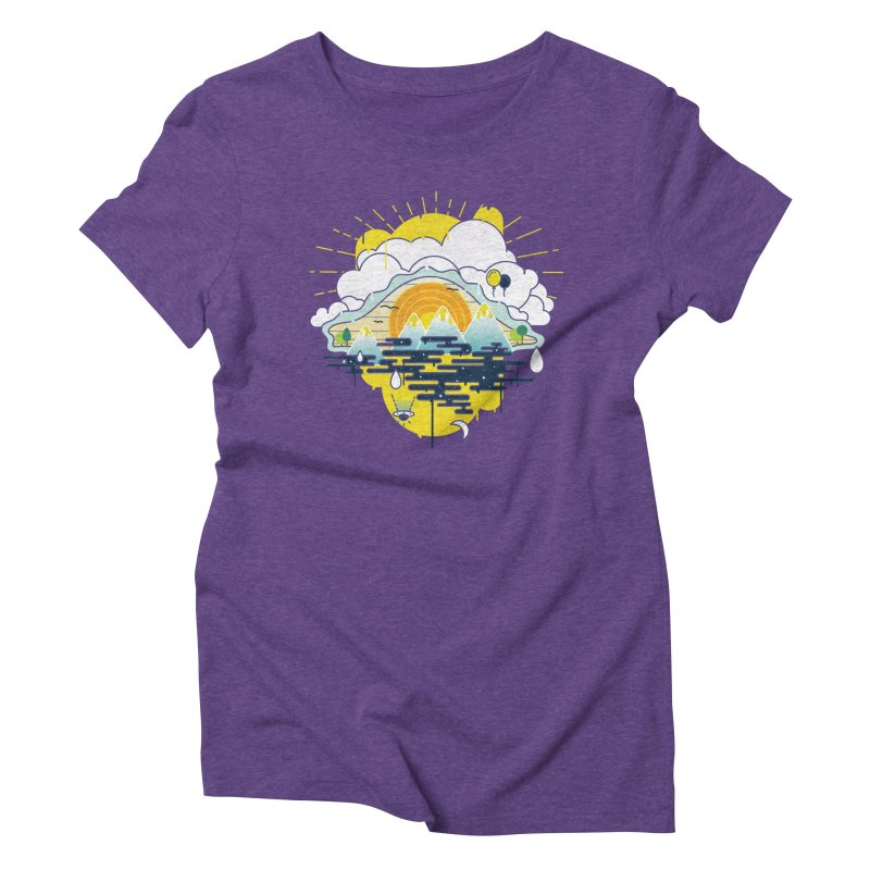 Mother nature is watching you Women's Triblend T-Shirt by Opippi