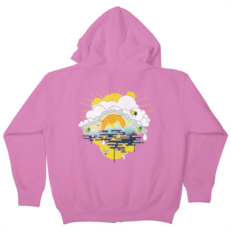 Mother nature is watching you Kids Zip-Up Hoody by Opippi