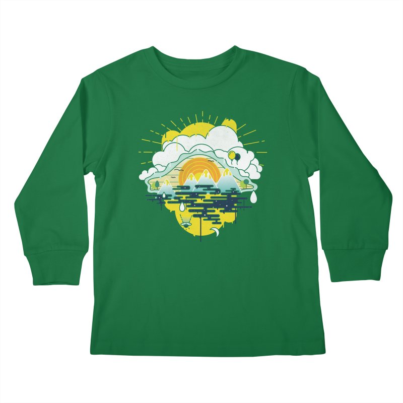 Mother nature is watching you Kids Longsleeve T-Shirt by Opippi