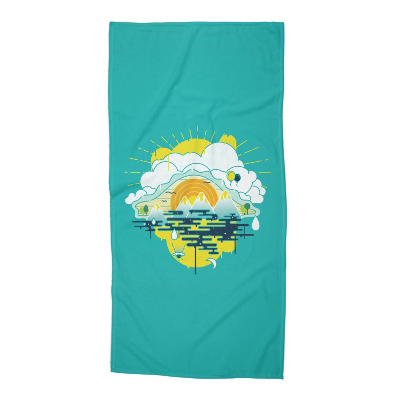 Mother nature is watching you Accessories Beach Towel by Opippi